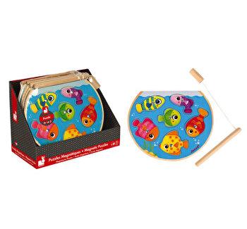 Puzzle lemn – Pestisori cu undita magnetica de la Janod