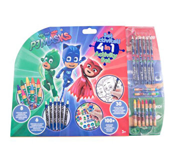 Set activitati 5 in 1 Pj Masks de la Eroi in pijama