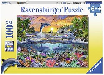 Puzzle Paradis tropical, 100 piese de la Ravensburger