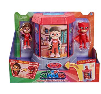 Set de joaca Eroi in pijamale cu figurina care se transforma , Bufnita