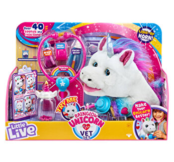 Set de joaca veterinar Unicorn Rainglow de la Little Live Pets