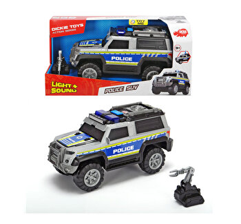 Masina de politie cu sunete si lumini Dickie Toys, 30 cm
