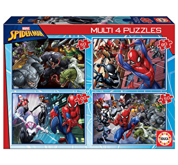 Puzzle multi Ultimate Spider-Man, 50-80-100-150 piese de la Educa