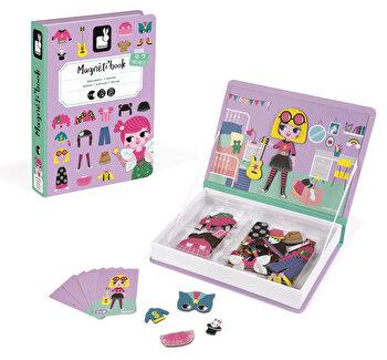 Carte magnetica – Hainute pentru fetite, 46 piese de la Janod