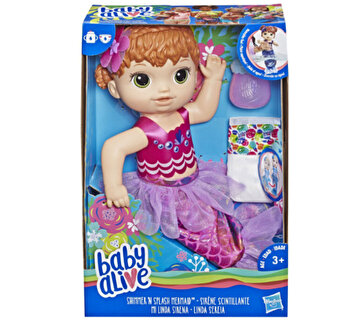 Baby Alive - Papusa Sirena, roscata