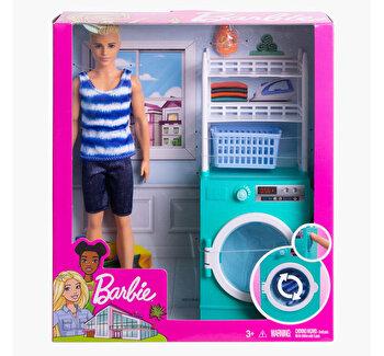 Set de joaca, Ken cu mobilier si accesorii spalatorie de la Barbie