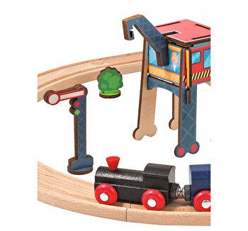Trenulet de jucarie din lemn Eichhorn de la Eichhorn