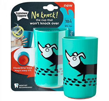 Cana No Knock Large, Tommee Tippee, 300 ml, verde