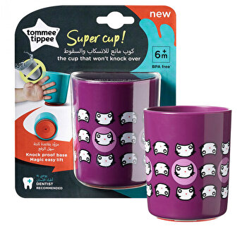 Cana No Knock Small, Tommee Tippee, 190 ml, mov de la Tomme Tippee