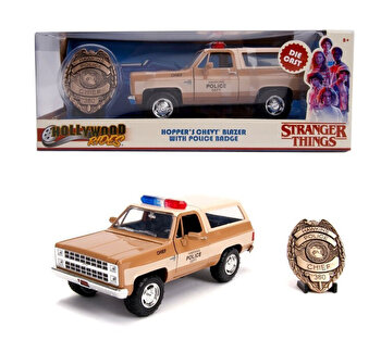 Macheta metalica 1980 chevy police k5, 1:24 de la Jada Toys