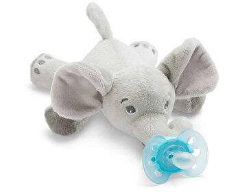 Suzeta Philips-Avent Ultra soft, ortodontica, 0 luni+, cu jucarie elefantel de la Philips Avent