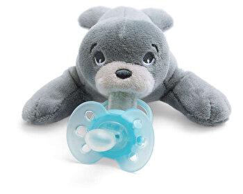 Suzeta Philips-Avent Ultra soft, ortodontica, 0 luni+, cu jucarie foca de la Philips Avent