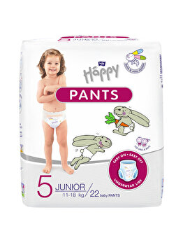 Scutece-chilotel Happy Pants Junior, 11-18 kg, 22 buc  de la Happy