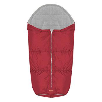 Sac termic de iarna pentru carucior, impermeabil, captuseala polar fleece, Red de la Lorelli