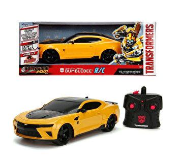 Masinuta cu telecomanda Transformers, Chevy Camaro Bumblebee de la Jada Toys