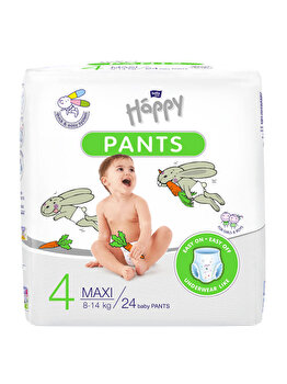 Scutece-chilotel Happy Pants Maxi, 8-14 kg, 24 buc de la Happy