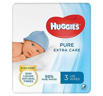 Set servetele Huggies Pure Extra Care Triplo, 3 x 56 buc de la Huggies