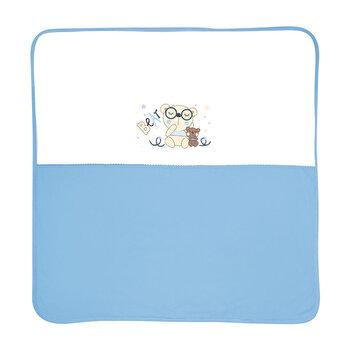 Paturica bumbac bebe, 90 x 90 cm, ZA ZA, Blue de la Lorelli