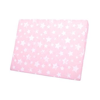 Perna inclinata antisufocare, Air Comfort, 60 x 45 x 9 cm, husa detasabila si lavabila, Stars Pink de la Lorelli
