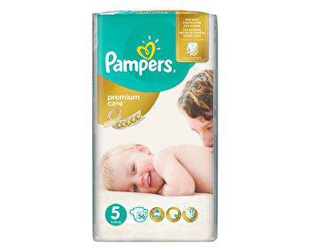Scutece Pampers Premium Care Junior 5 Jumbo Pack, 11-18 kg, 56 buc de la Pampers