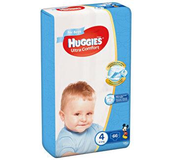 Scutece Huggies ultra confort boy 4 (66) 8-14kg de la Huggies
