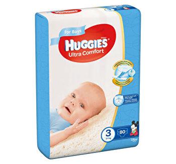 Scutece Huggies ultra confort boy 3 (80) 5-9kg