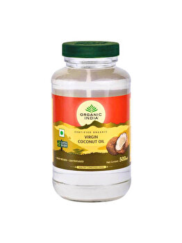 Organic India Ulei de Cocos Virgin Presat la Rece (Raw, Extra) Premium 500ml de la ORGANIC INDIA