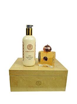 Set cadou Amouage Gold (Apa de parfum 100 ml + Crema de corp 300 ml), pentru femei de la Amouage