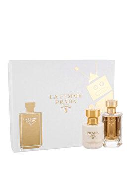 Set cadou Prada La Femme (Apa de parfum 50 ml + Lotiune de corp 100 ml), pentru femei de la Prada