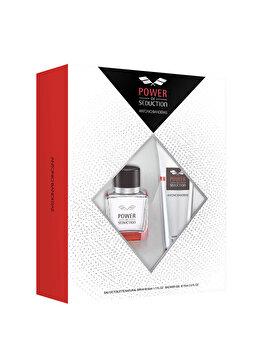 Set cadou Antonio Banderas Power of Seduction (Apa de toaleta 50 ml + Gel de dus 75 ml), pentru barbati