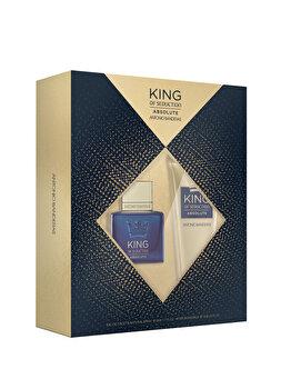 Set cadou Antonio Banderas King of Seduction Absolute (Apa de toaleta 50 ml + After shave balsam 75 ml), pentru barbati de la Antonio Banderas