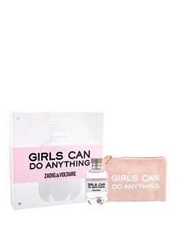 Set cadou Zadig & Voltaire Girls Can Do Anything (Apa de parfum 90 ml + Geanta cosmetice), pentru femei