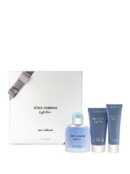 Set cadou Dolce & Gabbana Dolce Gabbana Light Blue Eau Intense (Apa de parfum 100 ml + Gel de dus 50 ml + After shave balsam 75 ml), pentru barbati de la Dolce & Gabbana