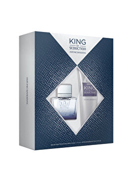 Set cadou Antonio Banderas King of Seduction (Apa de toaleta 50 ml + After shave balsam 75 ml), pentru barbati