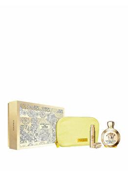 Set cadou Versace Eros (Apa de parfum 100 ml + Apa de parfum 10 ml + Geanta cosmetice), pentru femei de la Versace