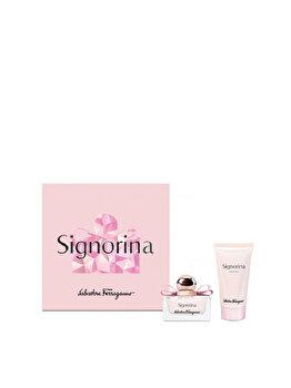 Set cadou Salvatore Ferragamo Signorina (Apa de parfum 30 ml + Lotiune de corp 50 ml), pentru femei