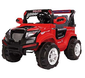 Masinuta electrica pentru copii, Jeep electric cu telecomanda Police, rosu de la Saint Toys