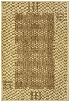 Covor Decorino Modern & Geometric C23-031204, Maro/Bej, 100×150 cm de la Decorino