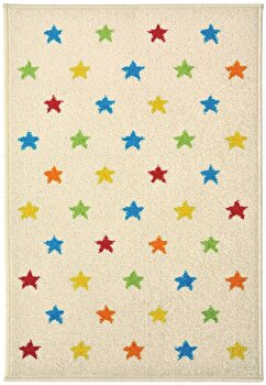 Covor Decorino Copii & Tineret C23-031407, Bej/Multicolor, 100×150 cm de la Decorino