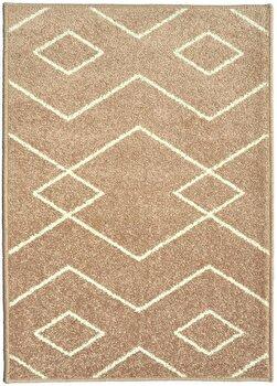 Covor Decorino Modern & Geometric C97-031605, Maro/Alb, 160×235 cm de la Decorino