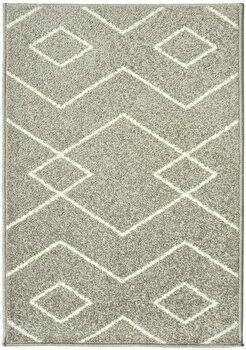 Covor Decorino Modern & Geometric C116-031606, Gri/Alb, 67×120 cm de la Decorino
