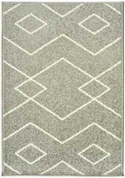 Covor Decorino Modern & Geometric C23-031606, Gri/Alb, 100×150 cm de la Decorino