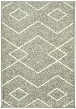 Covor Decorino Modern & Geometric C97-031606, Gri/Alb, 160×235 cm de la Decorino