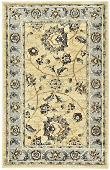 Covor Decorino Oriental & Clasic C23-031702, Bej/Albastru/Maro, 100×150 cm de la Decorino