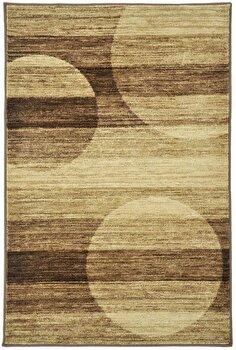 Covor Decorino Modern & Geometric C23-031706, Maro/Bej, 100×150 cm de la Decorino