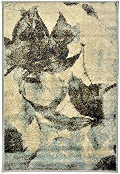 Covor Decorino Floral C116-032004, Maro/Bej/Albastru, 67×120 cm de la Decorino