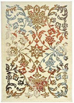 Covor Decorino Floral C97-032006, Bej/Rosu/Albastru, 160x235 cm