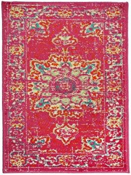 Covor Decorino Oriental & Clasic C23-032104, Roz/Rosu, 100x150 cm