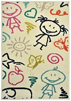 Covor Decorino Copii & Tineret C68-032202, Bej/Multicolor, 133×190 cm de la Decorino