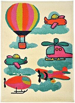 Covor Decorino Copii & Tineret C23-032210, Bej/Multicolor, 100x150 cm